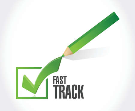 check mark sign: fast track check mark sign concept illustration design over white Illustration