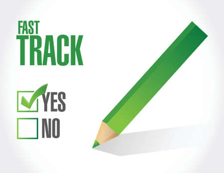 quick money: fast track approval sign concept illustration design over white