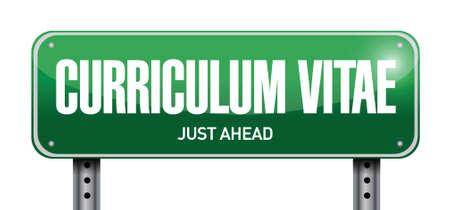 curriculum vitae: cv, curriculum vitae post sign concept illustration design over white