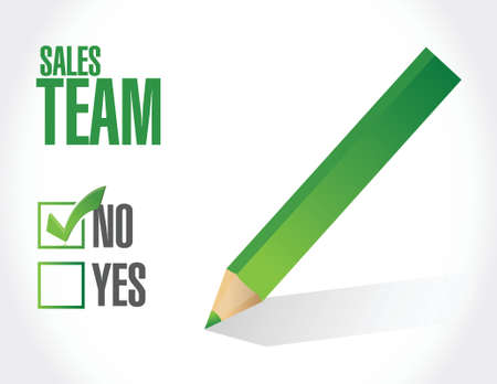 sales team: no sales team approval sign concept illustration design over white