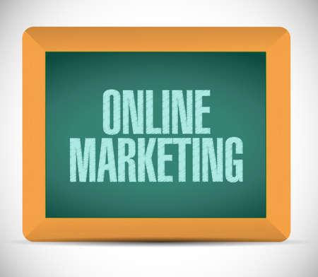 adwords: online marketing approval sign illustration design over white Stock Photo