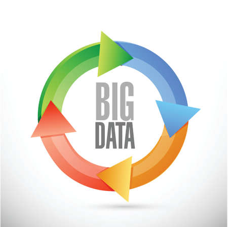 change size: Big data cycle sign concept illustration design over white