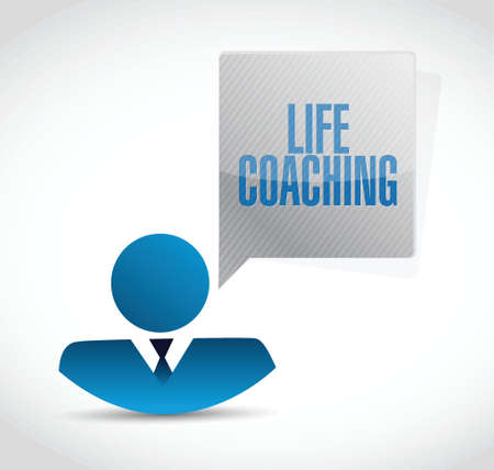 life coaching: life coaching icon avatar sign concept illustration design over white Stock Photo