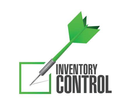 surplus: inventory control check dart sign concept illustration design over white