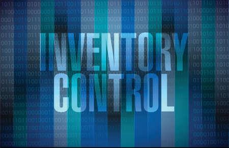 inventory control message sign concept illustration design over dark binary background