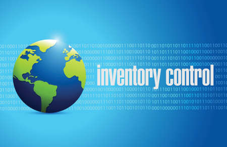 stockroom: inventory control international sign concept illustration design over blue