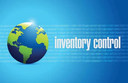 distributor: inventory control international sign concept illustration design over blue