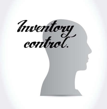 stockroom: inventory control mind sign concept illustration design over white