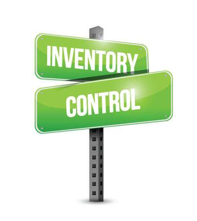 inventory control road sign concept illustration design over white