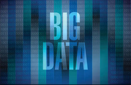 Big data sign concept illustration design over black illustration