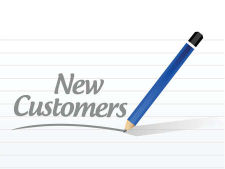b2c: new customer message sign concept illustration design over white
