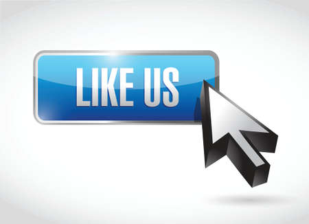 like us button sign concept illustration design over white