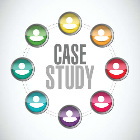 case: case study community sign concept illustration design over white background Illustration
