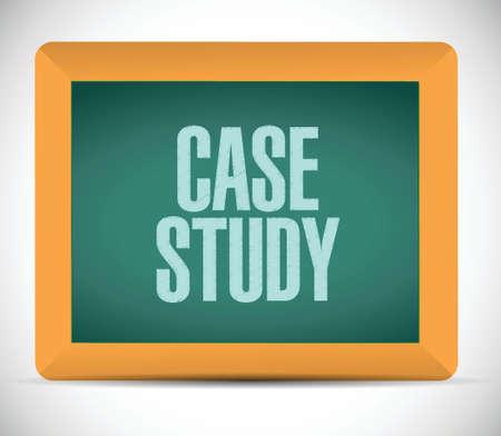 case: case study board sign concept illustration design over white background