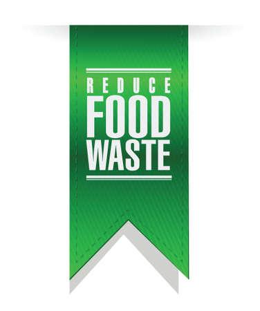 reduce food waste banner sign concept illustration design over white background