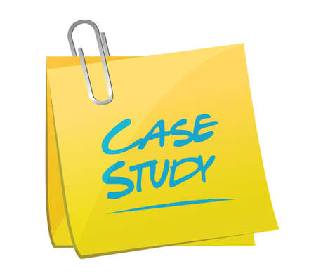 case study memo sign concept illustration design over white background