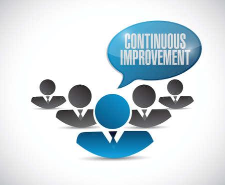 implement: continuous improvement teamwork sign concept illustration design over white background Illustration