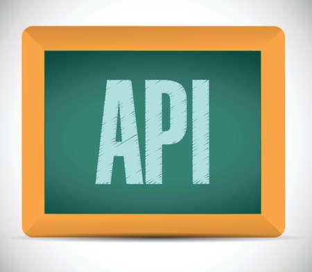 api: Api board sign concept illustration design over white