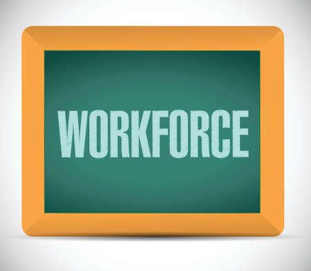 workforce board sign concept illustration design over white