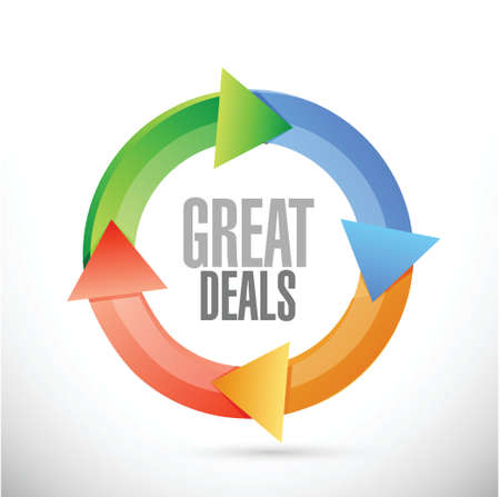 great deals cycle sign concept illustration design over a white background Illustration