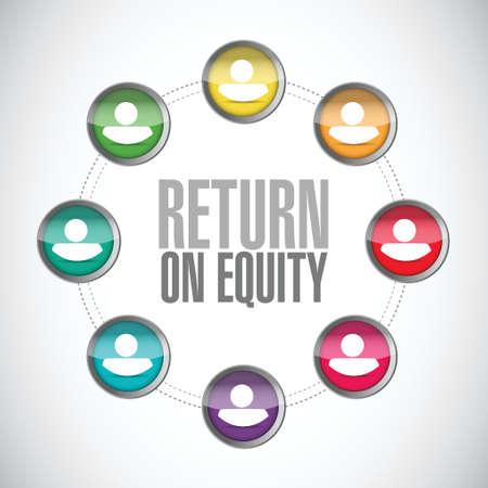 equidad: el retorno de la red de la equidad signo concepto de dise�o de ilustraci�n sobre un fondo blanco Vectores