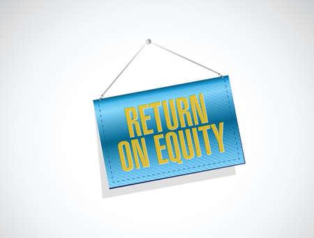 equidad: el retorno de la bandera de la equidad signo concepto de diseño de ilustración sobre un fondo blanco