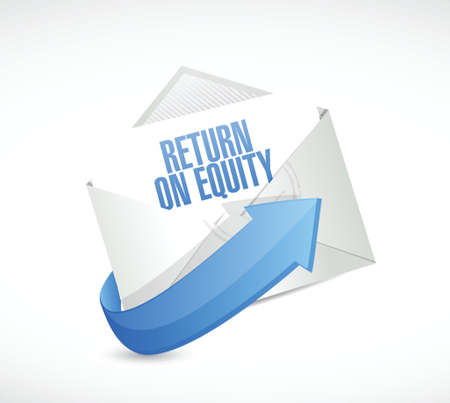 equity: return on equity mail sign concept illustration design over a white background