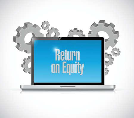 equity: el retorno de la tecnolog�a equidad signo inform�tica ilustraci�n del concepto de dise�o sobre un fondo blanco