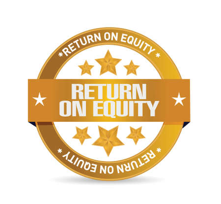 equity: return on equity seal sign concept illustration design over a white background