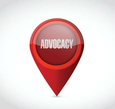advocacy: advocacy pointer sign concept illustration design over white