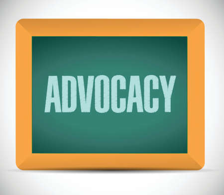 justification: advocacy board sign concept illustration design over white
