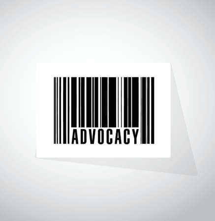 advocacy: advocacy barcode sign concept illustration design over white