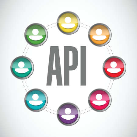 api: Api community sign concept illustration design over white Illustration