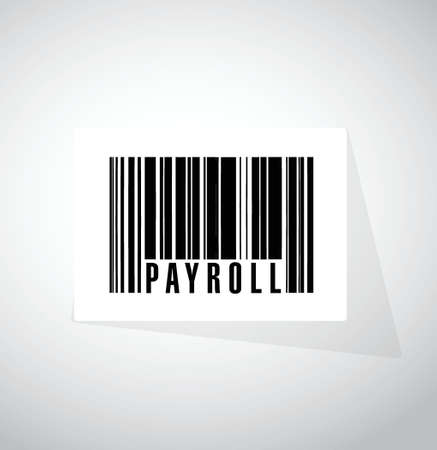 payroll barcode sign concept illustration design over white 向量圖像