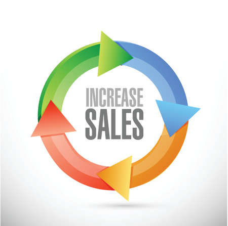 increase sales: increase sales cycle sign concept illustration design over white