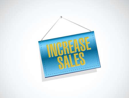 increase sales: increase sales banner sign concept illustration design over white Illustration