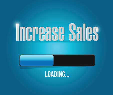 increase sales: increase sales search bar sign concept illustration design over blue
