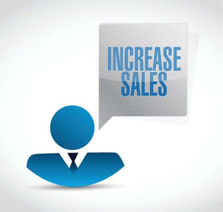 increase sales: increase sales avatar sign concept illustration design over white Illustration