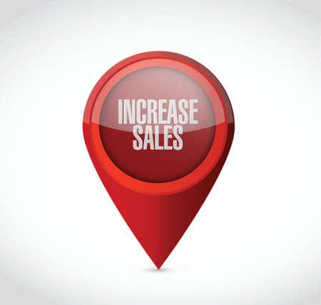 increase sales: increase sales pointer sign concept illustration design over white