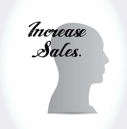 increase sales: increase sales icon mind sign concept illustration design over white