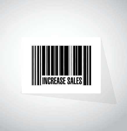 increase sales: increase sales barcode sign concept illustration design over white