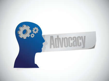 urging: advocacy mind sign concept illustration design over white Illustration