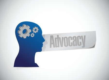 Pleading: advocacy mind sign concept illustration design over white Illustration