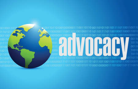 urging: advocacy international sign concept illustration design over blue