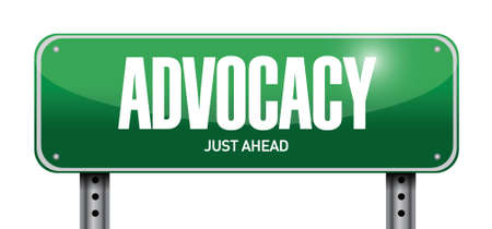urging: advocacy street sign concept illustration design over white Illustration