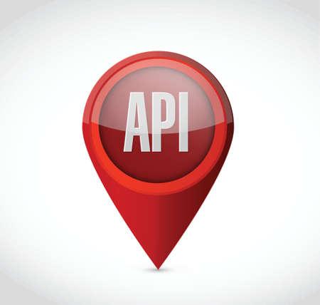 api: Api pointer sign concept illustration design over white Illustration