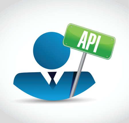 api: Api people sign concept illustration design over white