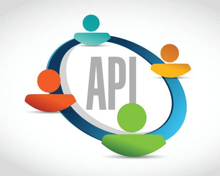 api: Api people network sign concept illustration design over white Illustration