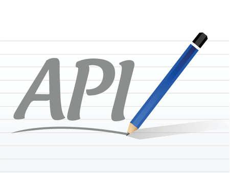 api: Api message sign concept illustration design over white Illustration