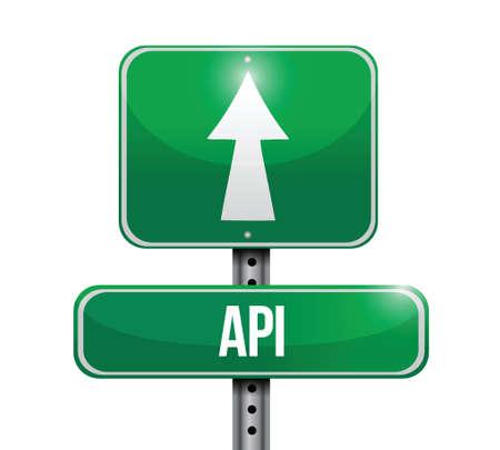 api: Api street sign concept illustration design over white Illustration